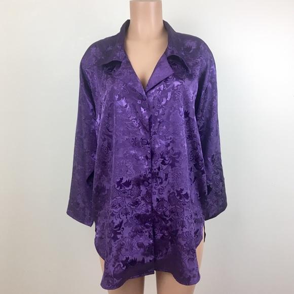 Victoria's Secret Other - Vintage Victoria's Secret Sleep Shirt 80's Purple